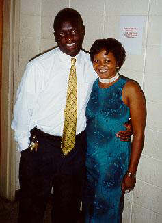 Cousins Marcus Johnson & Shirley Jackson at the 2000 Reunion