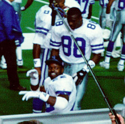 Emmitt Smith & Michael Irvin of the Dallas Cowboys