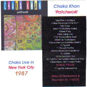 Chaka Khan Live 1987 'Patchwork'