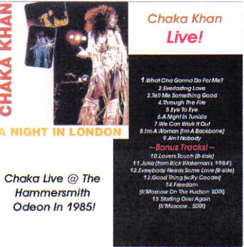 Chaka Khan Live! 'A Night In London'