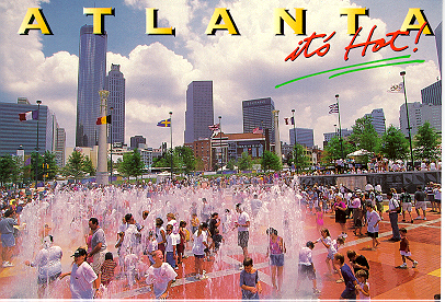The Olympic Rings Fountain at Centennial Olympic Park (Downtown)